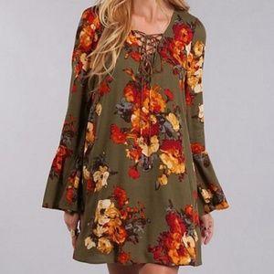 Blu Pepper Floral Dress